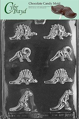 Cybrtrayd A060 Bite Size Dinosaurs Chocolate Candy Mold with Exclusive Copyright