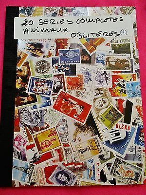 Album  20 Series Completes Animaux  Timbres Obliteres Monde (1)