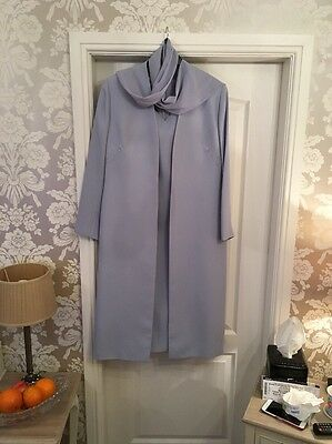 Ladies Wedding Outfit dress & Long Jacket Size 18