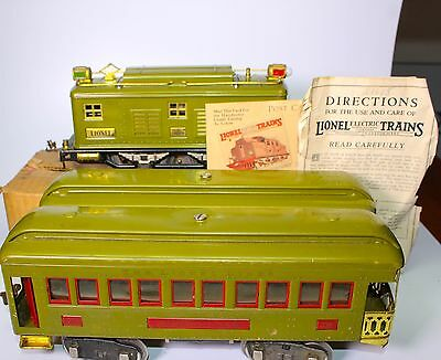 SCARCE PRE-WAR STANDARD GAUGE LIONEL #347 BOXED SET w/ #8 LOCO + #337 & #338 CAR
