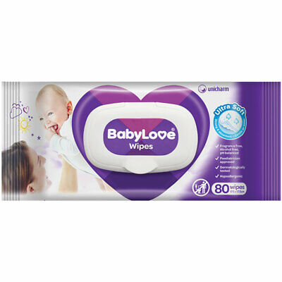 Babylove Wipes with Aloe Vera 80 Pack