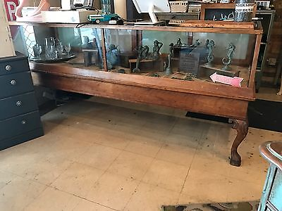 Wood Glass Front Store Display Case General Store Boutique Jewelry Antique