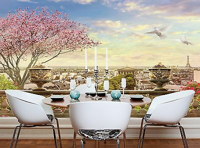 Paris Image  Wall Mural Photo Wallpaper GIANT WALL DECOR Paper Poster Free Paste