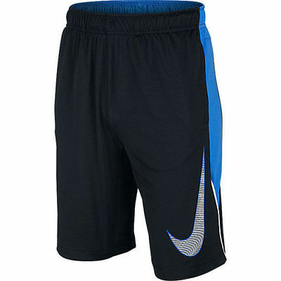 Nike Boys Dri-Fit Athletic Training Shorts NWT Youth Size Small  Black & Blue