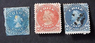 CHILE - early issues used