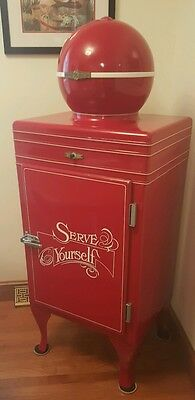 """1930s GE Monitor Top """"Globe top"""" Refrigerator Restored! Fully Functional!"""
