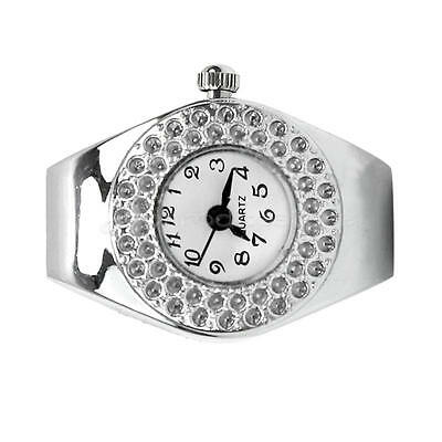 Personality Finger Watch Time Alloy Arabic Numerals Crystal Dial Ring watch