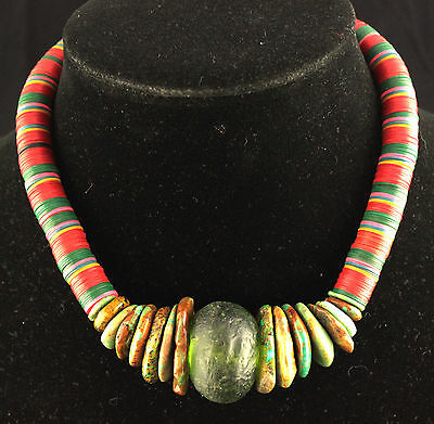 Too Cool For Most Necks Genuine African Bead Necklace