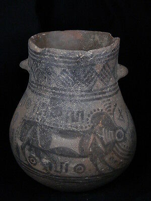 """Ancient Indus Valley Teracota Painted Pot With Bulls C.2500 Bc """"""""t15627"""