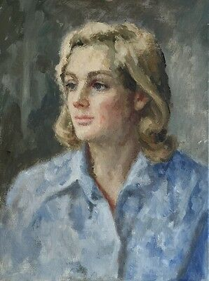 SCOTTISH SCHOOL The Portrait of a Lady original oil painting on canvas