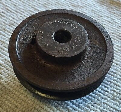 """Browning 1VL34X1/2 Variable Pitch 3.15"""" OD Fixed 1/2"""" Bore Sheave Pulley"""