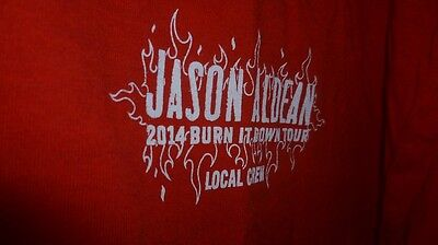 New XL new JASON ALDEAN t-shirt TOUR 2014 official RED local CREW concert
