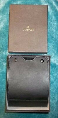 Corum Black Leather Wrist Watch Display Case with Outer Box