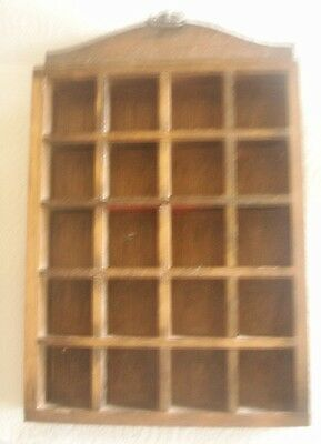 Wooden Thimble Display Rack Holds 20 Thimbles Patterned Metal Hanger