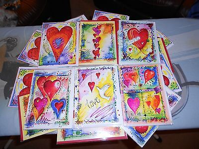 Valentines Day Cards X 24 Wholesale Joblot