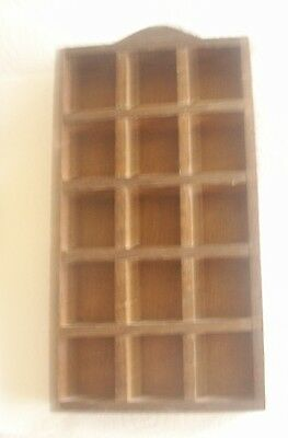 Wooden Thimble Display Rack Holds 15 Thimbles Requires Hanger