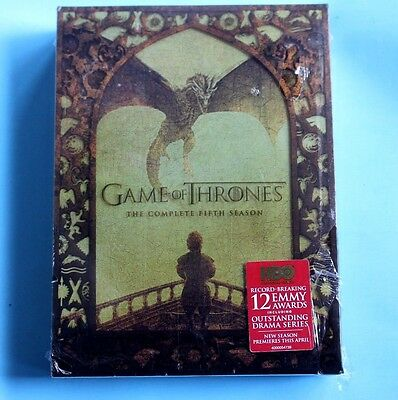 Game of Thrones: The Complete Fifth Season (DVD, 2016, 5-Disc Set) BRAND NEW