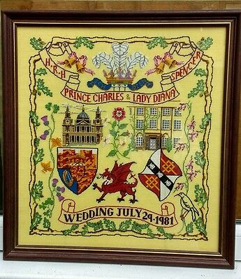 RARE Sampler Royal Wedding Embroidery Charles & Diana Royal School Needlework