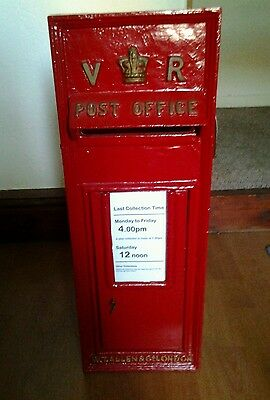 Believed to be Genuine Victorian Cast Iron Post Letter Box