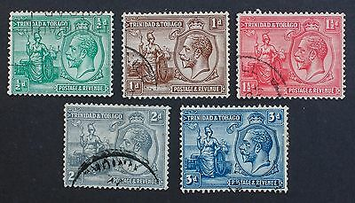 TRINIDAD & TOBAGO - SG218-223 1/2d-3d King George V 1922-28. 5 Used.
