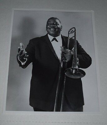 Orig promo photo jazz/pop Trombone Clarence BIG Miller signed 1967