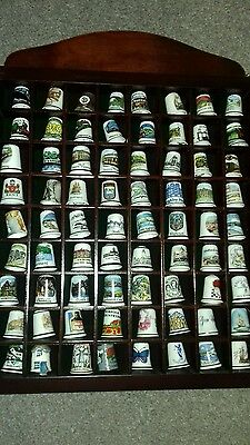 296 Thimbles Collection with 4 Display Cabinets with Glass Fronts