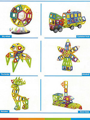 198 pcs Magical Magnet Toy. Magnetic Construction Set Similar Magformers Toy