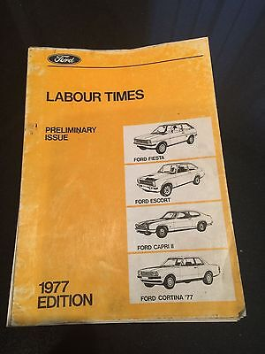 Ford - Labour Times Manual (Preliminary Issue)  - 1977 Edition