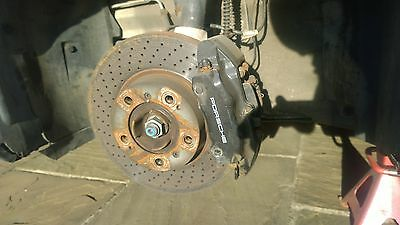 GENUINE PORSCHE 996 C2/4 FRONT BRAKE CALIPERS IN BLACK - Removed from 2003 3.6