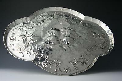 ANTIQUE STERLING SILVER HEAVY 610grams DRESSING TABLE TRAY WILLIAM COMYNS 1912 -