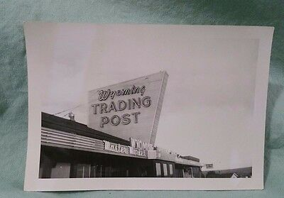 1950 Vintage Photograph of Wyoming Trading Post