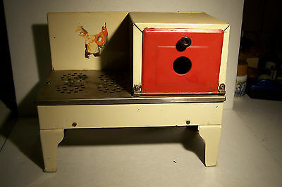 Vintage Electric Tin toy Stove - Works