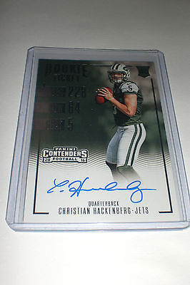 Christian Hackenberg 2016 Contenders Rookie Ticket Auto On Card Autograph Jets