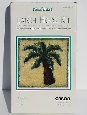 WonderArt Latch Hook Kit La Palma Caron 12x12 Palm Tree #4710