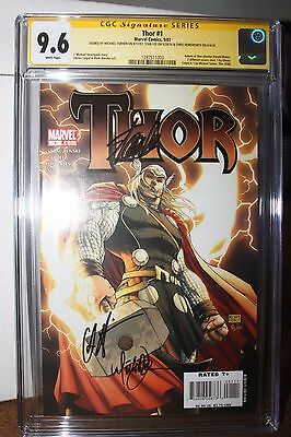 Thor #1 Variant CGC 9.6 SS 3x Signed by Michael Turner, Stan Lee & Hemsworth