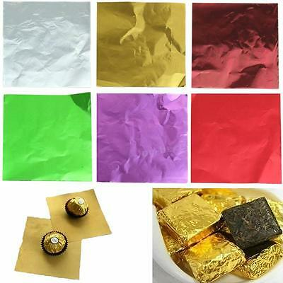 Package Square For Lolly 100pcs Chocolate Wrappers Foil Candy Paper Aluminum