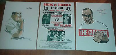 Lenny Mclean Vs Roy Shaw Signed Boxing Posters. The Krays. Unlicensed Boxing.