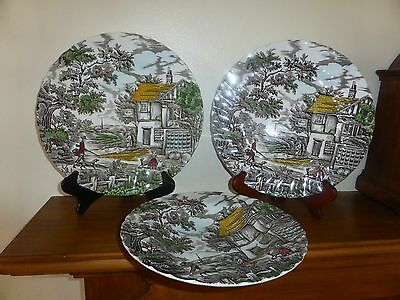 Myott   - The Hunter  Dinner Plate's  and Bowl Set of Three