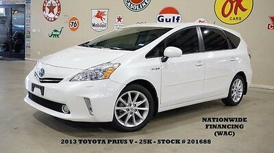 2013 Toyota Prius Five NAV,BACK-UP CAM,HEATED LEATHER,25K,WE FINANCE 13 PRIUS V FIVE,NAV,BACK-UP CAM,HEATED LEATHER,B/T,17IN WHEELS,25K,WE FINANCE!!