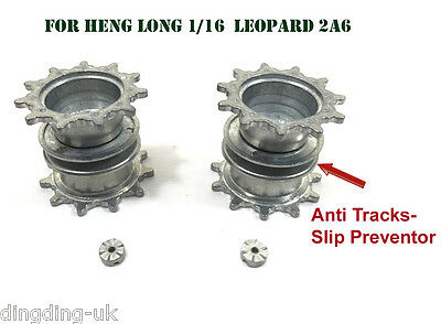 Heng Long Leopard 2 tank 1/16 Metal Driving Wheel with Anti Track-Slip Preventor