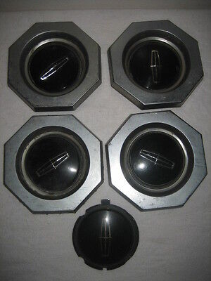 4 Lincoln Hubcap Centers Vintage 1970's