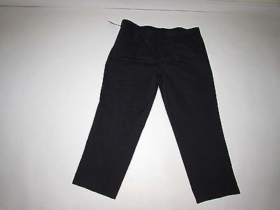 Dockers Men's Relaxed Fit Khaki Pants 42 x 30 NWT Black Pleated Front Chino