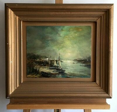 JAMES PATRICK Evening, signed oil painting on wood in frame