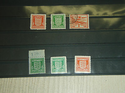 Stamps old  JERSEY GUERNSEY  German occupation  used +MH