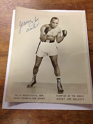 Jersey Joe Walcott Signed Autographed 8 X 10 Photo
