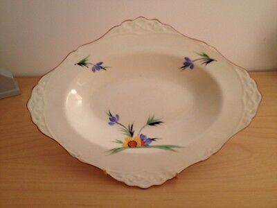 SALE Tuscan China Oval Dish (1) c1930s, Hand Painted Flowers SALE