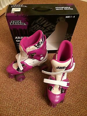 Girls Roller Skates Adjustable Size 1-4 With Box