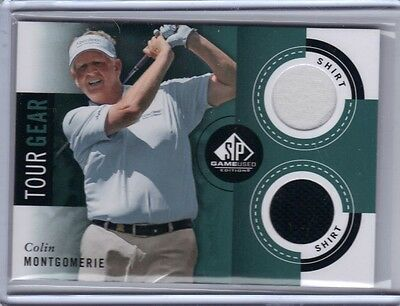 2014 SP Game Used Tour Gear Dual Shirt Relic #TG-CM Colin Montgomerie