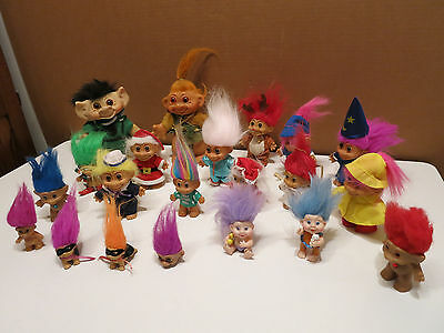 Vintage Lot Of Trolls OF ALL Sizes - SEE!