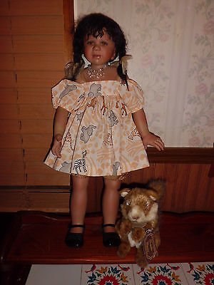 "Berdine Creedy 24"" tall porcelain doll free shipping"